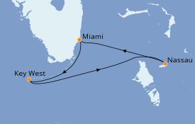 Itinéraire de la croisière Bahamas 5 jours à bord du Celebrity Infinity