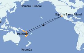 Itinerario de crucero Polinesia 12 días a bordo del Le Soléal