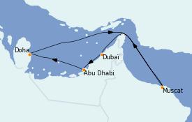 Itinerario de crucero Dubái 8 días a bordo del Costa Firenze