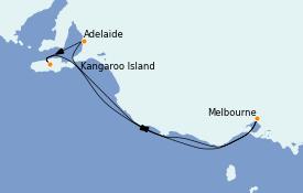 Itinéraire de la croisière Australie 2023 6 jours à bord du Grand Princess
