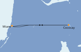 Itinerario de crucero Caribe del Este 4 días a bordo del Oasis of the Seas