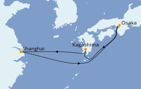 Itinéraire de la croisière Asie 7 jours à bord du MSC Bellissima