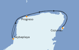 Itinerario de crucero Caribe del Oeste 8 días a bordo del Le Champlain