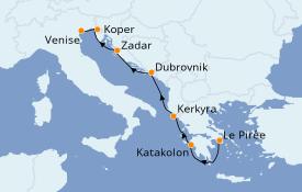 Itinéraire de la croisière Grèce & Adriatique 8 jours à bord du Azamara Journey