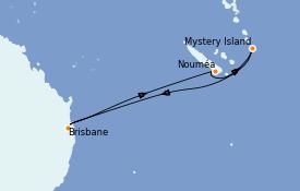 Itinéraire de la croisière Australie 2022 8 jours à bord du Quantum of the Seas