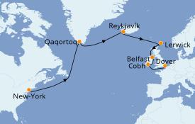 Itinéraire de la croisière Îles Britanniques 17 jours à bord du Carnival Legend