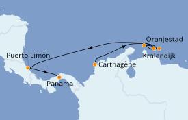 Itinéraire de la croisière Caraïbes de l'Est 10 jours à bord du Norwegian Sun