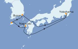 Itinéraire de la croisière Asie 7 jours à bord du Costa neoRomantica