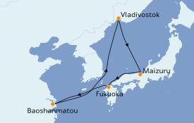 Itinéraire de la croisière Asie 9 jours à bord du Spectrum of the Seas