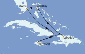 Itinéraire de la croisière Bahamas 7 jours à bord du Explorer of the Seas