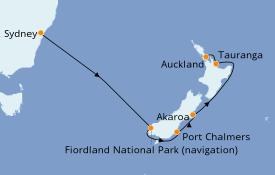 Itinéraire de la croisière Australie 2020 9 jours à bord du Ruby Princess