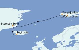 Itinéraire de la croisière Exploration polaire 13 jours à bord du Le Commandant Charcot