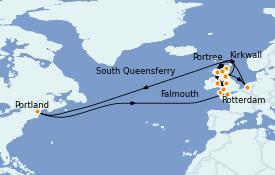 Itinerario de crucero Islas Británicas 15 días a bordo del ms Volendam
