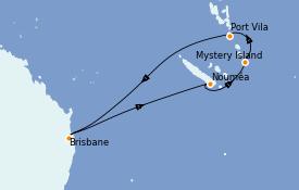 Itinéraire de la croisière Australie 2023 9 jours à bord du Quantum of the Seas