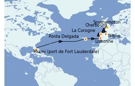Itinéraire de la croisière Méditerranée 16 jours à bord du Crown Princess