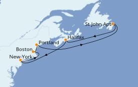 Itinéraire de la croisière Canada 8 jours à bord du Carnival Magic