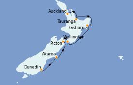 Itinéraire de la croisière Australie 2022 12 jours à bord du Le Lapérouse