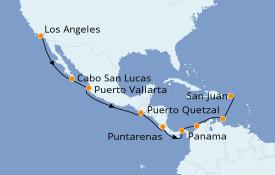 Itinéraire de la croisière Riviera Mexicaine 16 jours à bord du Vision of the Seas