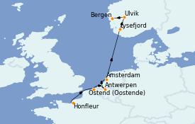 Itinéraire de la croisière Mer Baltique 9 jours à bord du Le Boréal