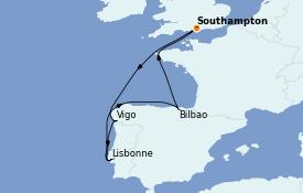 Itinerario de crucero Mediterráneo 8 días a bordo del Anthem of the Seas