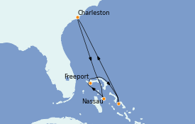 Itinéraire de la croisière Bahamas 7 jours à bord du Carnival Sunshine