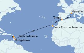 Itinerario de crucero Trasatlántico y Grande Viaje 2021 14 días a bordo del Costa Diadema