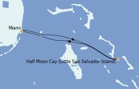 Itinerario de crucero Caribe del Este 4 días a bordo del Carnival Conquest
