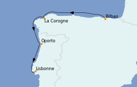 Itinerario de crucero Mediterráneo 8 días a bordo del MS World Explorer
