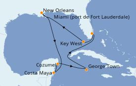 Itinéraire de la croisière Caraïbes de l'Ouest 12 jours à bord du Celebrity Equinox