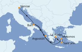 Itinéraire de la croisière Grèce & Adriatique 9 jours à bord du Costa Mediterranea