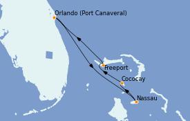 Itinéraire de la croisière Bahamas 5 jours à bord du Independence of the Seas