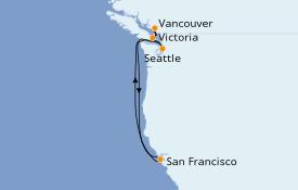 Itinéraire de la croisière Alaska 8 jours à bord du Celebrity Eclipse