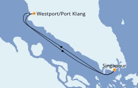Itinéraire de la croisière Asie 4 jours à bord du Voyager of the Seas
