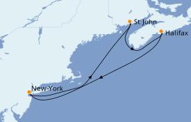 Itinéraire de la croisière Canada 6 jours à bord du Norwegian Encore