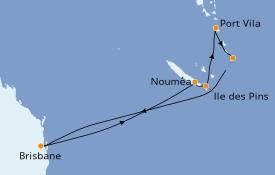 Itinéraire de la croisière Australie 2021 10 jours à bord du Radiance of the Seas