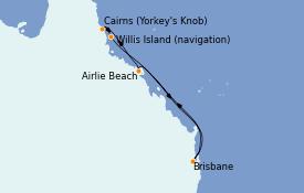 Itinéraire de la croisière Australie 2022 7 jours à bord du Quantum of the Seas