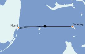Itinéraire de la croisière Bahamas 4 jours à bord du Freedom of the Seas