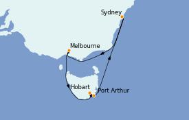 Itinerario de crucero Australia 2022 8 días a bordo del Royal Princess