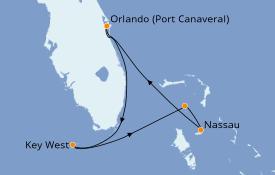Itinéraire de la croisière Bahamas 5 jours à bord du Norwegian Sun