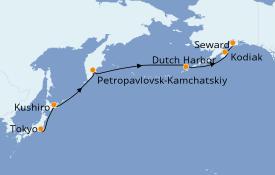 Itinéraire de la croisière Asie 15 jours à bord du Silver Muse