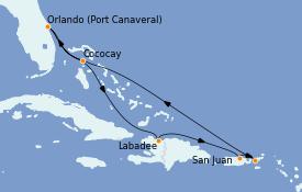 Itinéraire de la croisière Caraïbes de l'Est 8 jours à bord du Harmony of the Seas