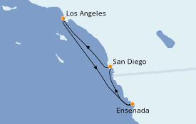 Itinéraire de la croisière Californie 5 jours à bord du Royal Princess