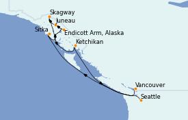 Itinerario de crucero Alaska 9 días a bordo del Ovation of the Seas