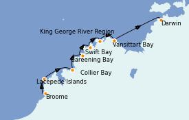 Itinéraire de la croisière Australie 2021 11 jours à bord du Le Soléal