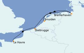 Itinerario de crucero Mar Báltico 5 días a bordo del Costa Fortuna