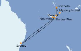 Itinéraire de la croisière Australie 2020 11 jours à bord du Voyager of the Seas
