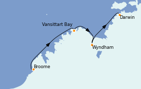 Itinéraire de la croisière Australie 2021 10 jours à bord du Silver Explorer