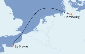 Itinéraire de la croisière Atlantique 3 jours à bord du MSC Preziosa