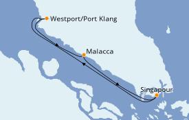 Itinéraire de la croisière Asie 4 jours à bord du Quantum of the Seas