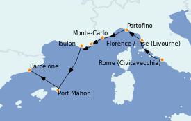 Itinéraire de la croisière Méditerranée 8 jours à bord du MS Nautica